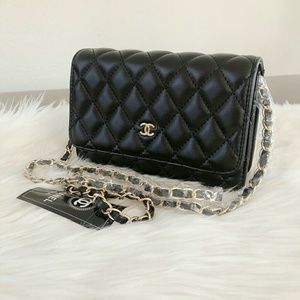 Limited Chanel Cross Body Flap Gold Hardware